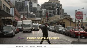 screenshot of Ethnic Seattle Events website