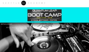 Screenshot of Seattle DJ Academy website